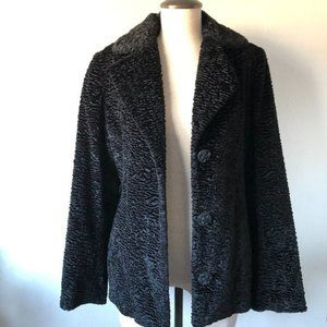 Gallery Crushed Textured Fabric Blazer Jacket Sm